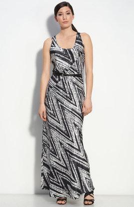Calvin Klein Belted Silk Maxi Dress