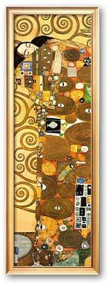 """Gustav Art.com """"Fulfillment, Stoclet Frieze, c.1909 (detail)"""" Framed Art Print by Klimt"""