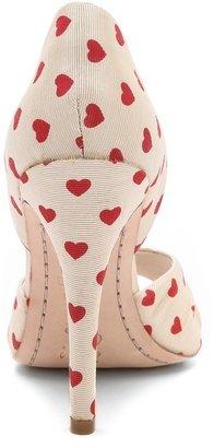 Alice + Olivia Gigi Heart Print d'Orsay Pumps