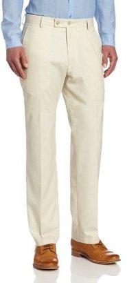 Kenneth Cole Reaction Men's Subtle Herringbone Modern Fit Flat Front Dress Pant