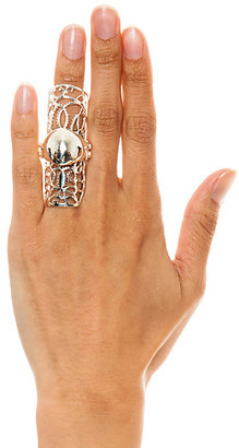 Fashionology The Armor Ring in Silver