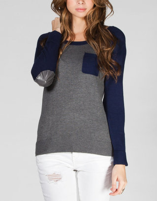 Full Tilt Elbow Patch Womens Raglan Sweater