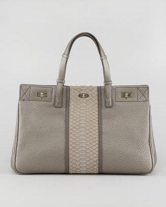 VBH Vault Leather/Python Satchel Bag