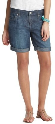 "LOFT Petite Boyfriend Shorts in Twilight Blue Chambray with 9"" inseam"