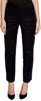 Per Una Ankle Length Jacquard Straight Leg Trousers