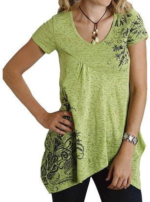 Roper Burnout Tunic Shirt - Short Sleeve (For Women)
