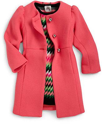 Milly Minis Toddler's & Little Girl's Bonded Wool Blend Coat