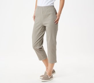 Denim & Co. Original Waist Stretch Crop Pants with Side Pockets