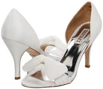 Badgley Mischka Zandra (White Silk) - Footwear
