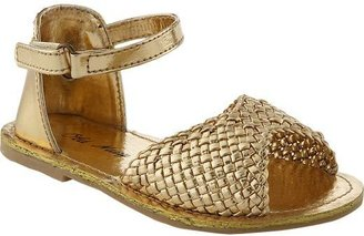 Old Navy Metallic-Woven Sandals for Baby