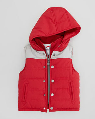 Appaman Two-Tone Hooded Puffy Vest
