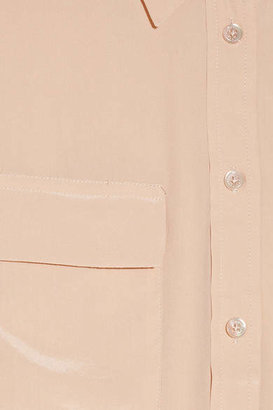 Equipment Signature Washed-silk Shirt - Blush