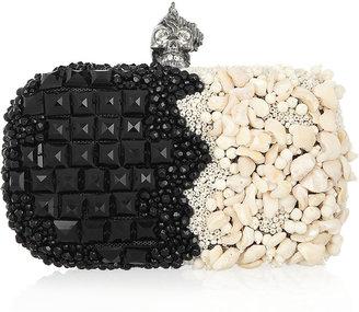 Alexander McQueen Punk Shell embellished box clutch