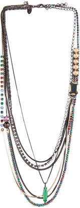 Iosselliani Long Multi Strand Necklace in Multi