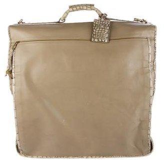Bottega Veneta Crocodile-Trimmed Garment Bag