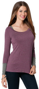 A Pea in the Pod Long Sleeve Pull Down Mock Layer Nursing Top