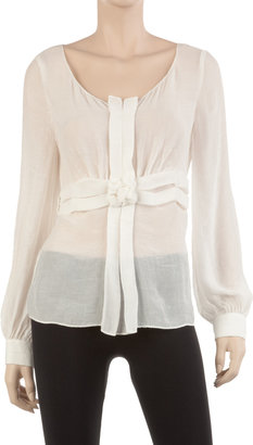 Max Studio Twisted And Tucked Detail Top