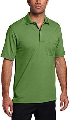 PGA TOUR Men's Golf Short Sleeve Solid Polo Shirt