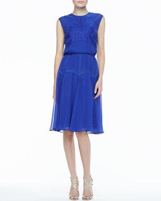 Catherine Deane Ordrea Sleeveless Eyelet & Embroidered Dress