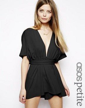 Asos Exclusive Kimono Playsuit - Black