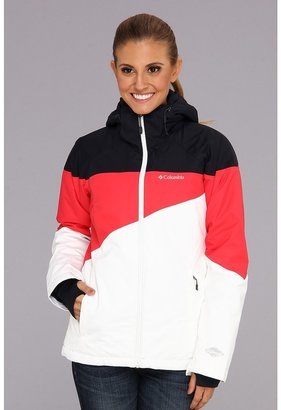 Columbia Snowcalypse 2.0 Jacket (Abyss/Red Hibiscus/White) - Apparel