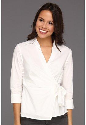Anne Klein Wrap Blouse 10390398-I15 (White) - Apparel