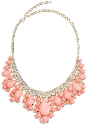GUESS by Marciano Nicola Cabochon Bib Necklace
