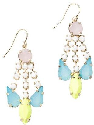 LOFT Multicolored Stone Chandelier Earrings