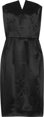 Yves Saint Laurent Strapless silk-satin dress