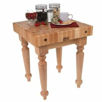 """John Boos BoosBlock® Butcher Block Prep Table Size: 24"""" W x 24"""" D, Casters: Not Included"""