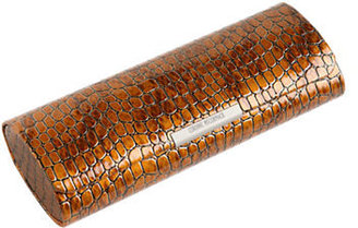 Corinne McCormack Crocodile Print Magnetic Glasses Case