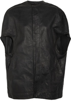 Rick Owens Textured-leather coat