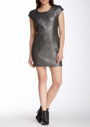 TOV Metallic Knit Detail Dress