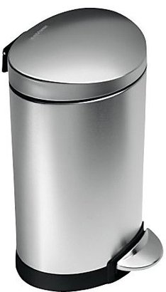 Simplehuman 1.6 Gallon (6L) Mini Fingerprint Proof Semi-Round Step Trash Can