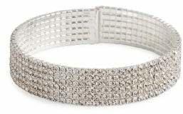 Cezanne Crystal Six-Row Cuff Bracelet