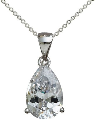 Diamonique 3.00 cttw Pear Shaped Pendant, Platinum Clad