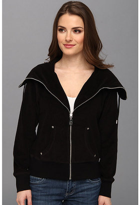 MICHAEL Michael Kors L/S Terry Cloth Zip Front Jacket