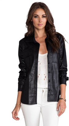BCBGMAXAZRIA Torey Vegan Leather Jacket