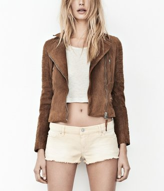 AllSaints Tan Leather Biker Jacket