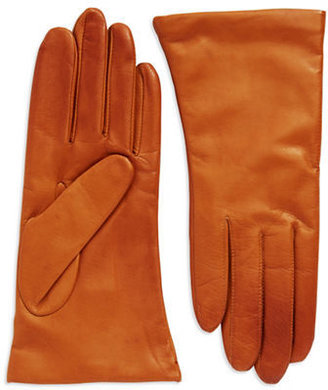 Lord & Taylor Cashmere Lined Leather Gloves