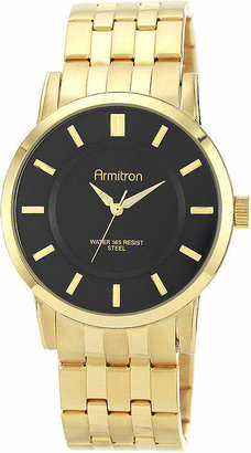 Armitron All Sport Mens Gold Tone Stainless Steel Bracelet Watch-20/4962bkgp