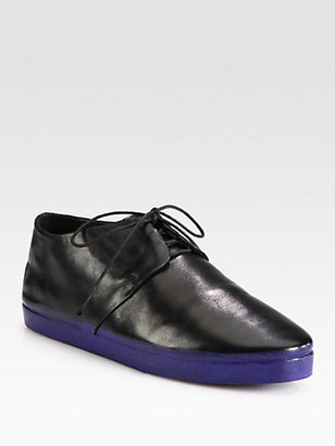 Marsèll Bicolor Leather Lace-Up Oxfords