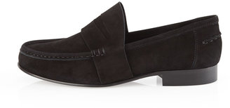 Vera Wang Audrey Suede Penny Loafer, Black