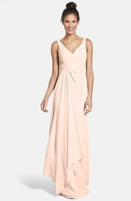 Monique Lhuillier Bridesmaids Sleeveless V-Neck Chiffon Gown (Nordstrom Exclusive) $275 thestylecure.com