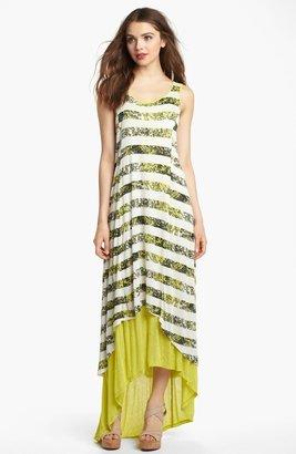 Kensie Crackled Stripe Maxi Dress