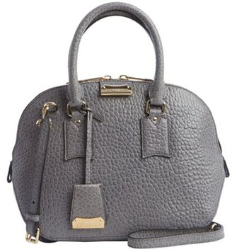 Burberry grey leather vintage small 'Orchard' bowling bag
