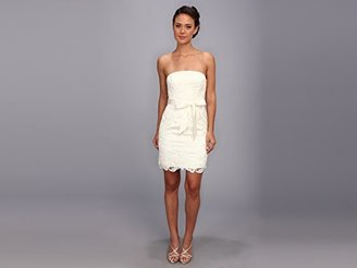 Adrianna Papell Women's Strapless Lace Sheath Dress