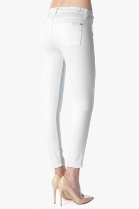 "7 For All Mankind Malhia Kent: The High Waist Ankle Pieced Skinny In Rose Gold (28"" Inseam)"