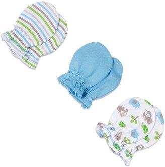 Gerber Newborn Boy 3-Pack Mittens