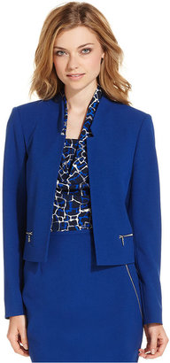 Calvin Klein Jacket, Zipper-Pocket Open Blazer